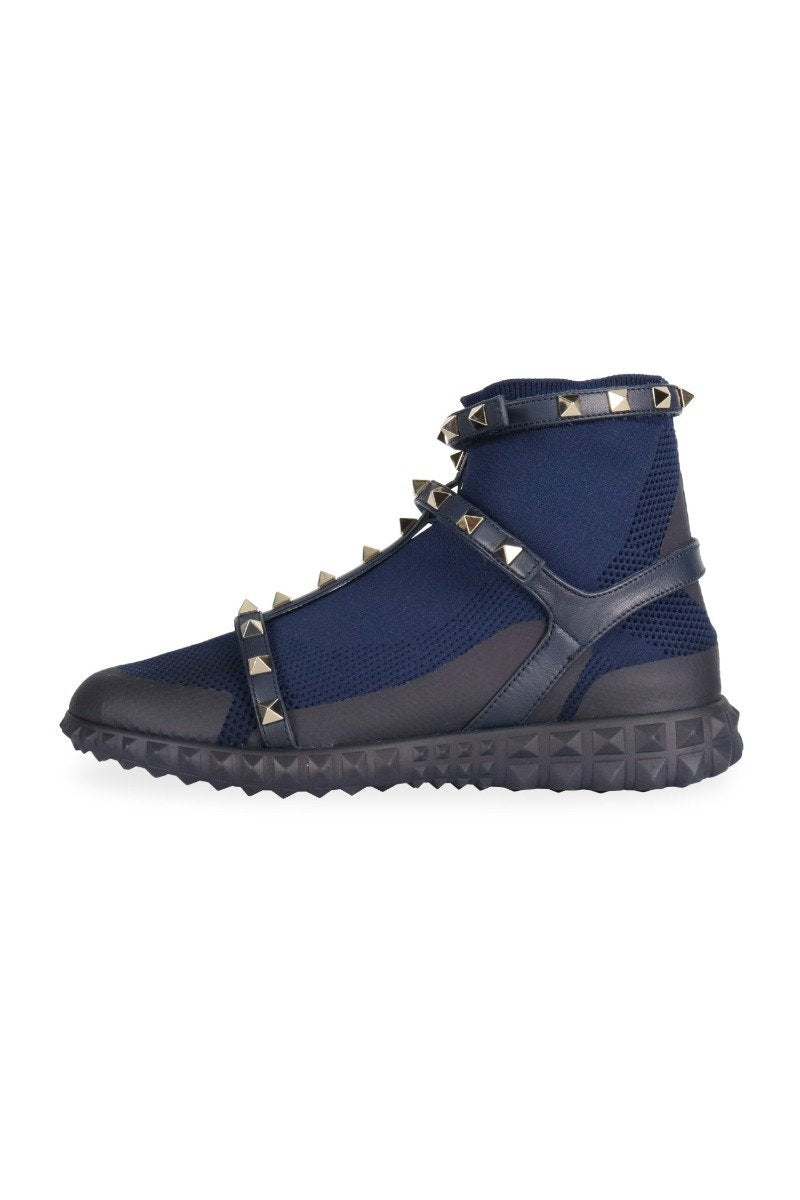 Cage Rockstud Sock Sneaker Studs Leather Fashion Designer