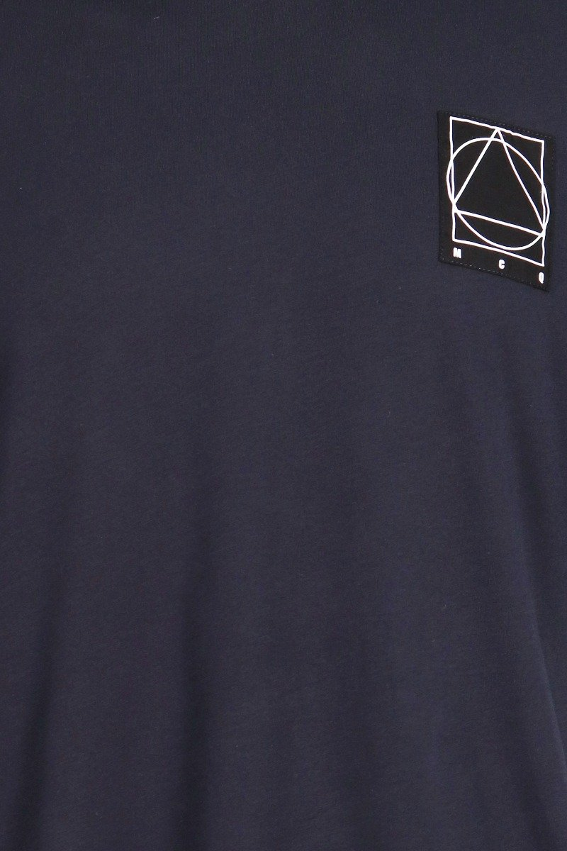 Glyph Icon T-Shirt Cotton Crew Neck Top Casual Basic Menswear