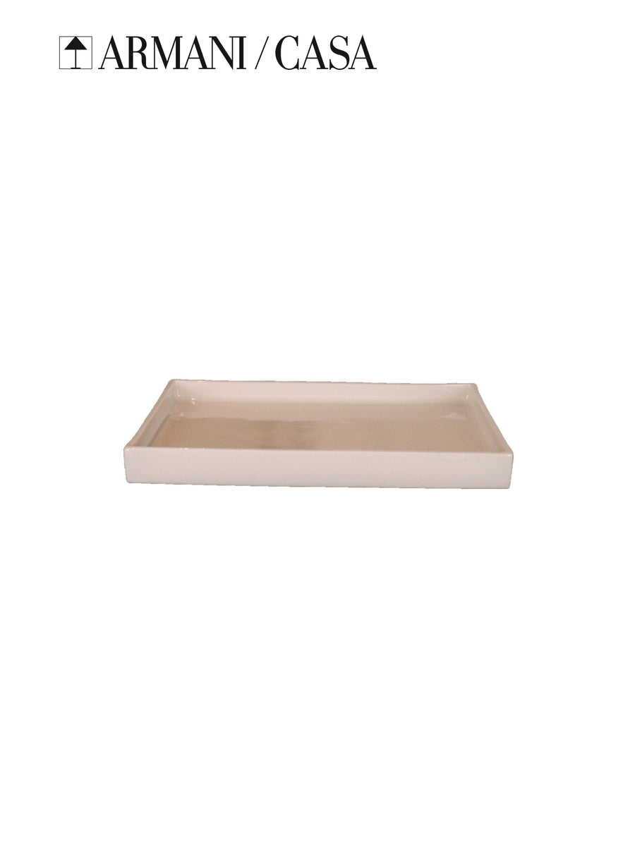 Vetiver Accessories Armani Casa Ceramic Trinket Tray Modern Lifestyle Home Living