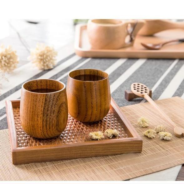 All Natural Japanese Style Wooden Cup