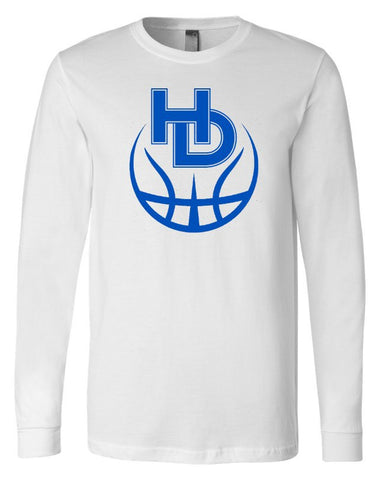 Hilliard Davidson HD Basketball White Long Sleeve