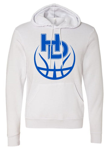 Hilliard Davidson HD Basketball White Hoodie