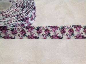 "Flower Purple 1"" Ribbon"