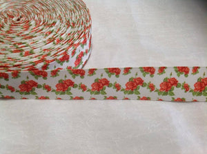 "Flower Red 1"" Ribbon"