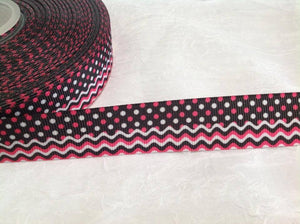 "Spots & Waves 7/8"" Ribbon"