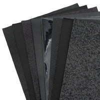 Black Mixed Faux Leather Full Sheet Pack of 8