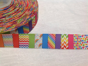 "Patches Rainbow 7/8"" Ribbon"