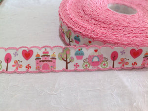 "Princess Land 7/8"" Crochet Ribbon"