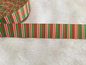 "Stripes Christmas 7/8"" Ribbon"