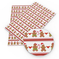 Christmas Gingerbread Lovers Faux Leather Sheet