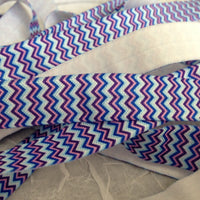 "Chevron Blue & Purple 5/8"" FOE"