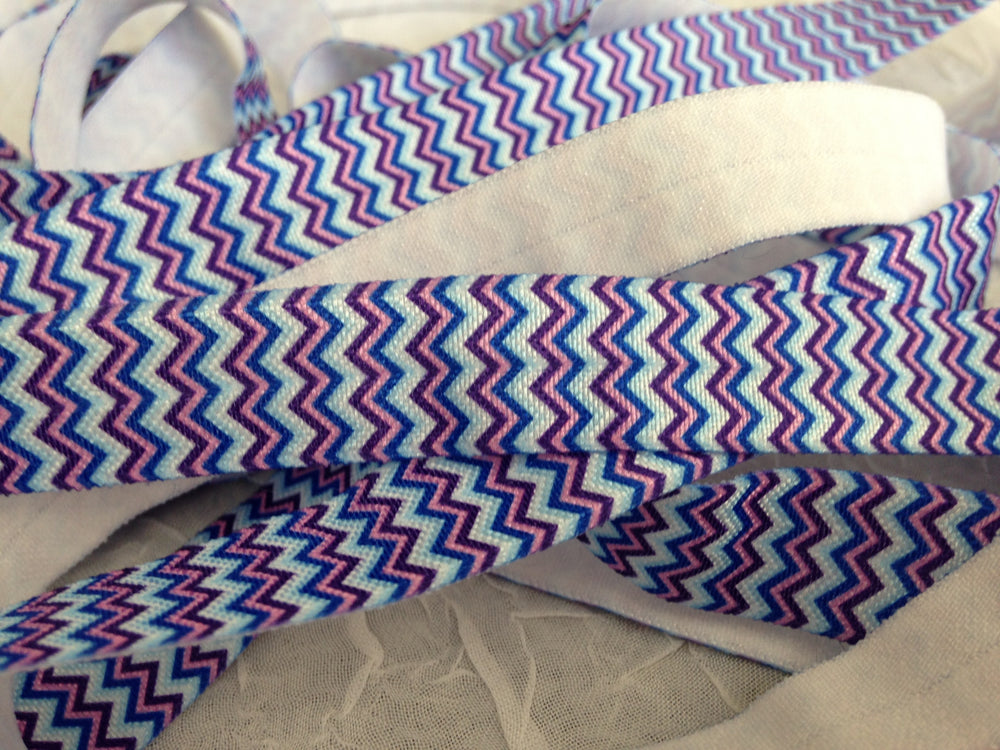 Chevron Blue & Purple 5/8