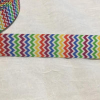 "Chevron Rainbow 7/8"" Ribbon"