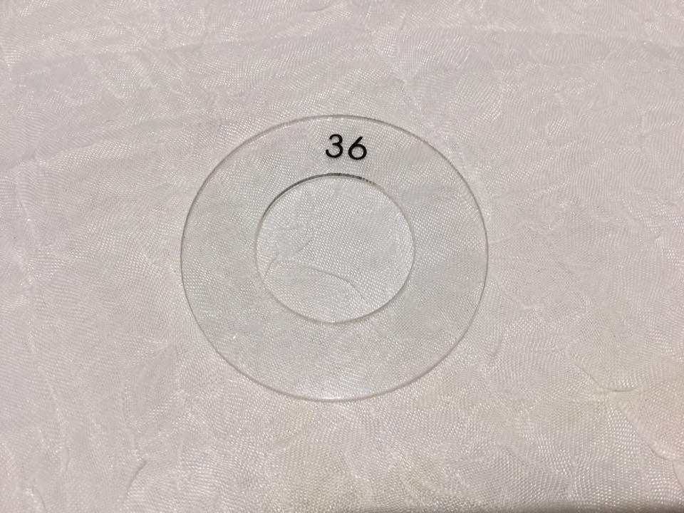 Template for 23mm Self Cover Buttons