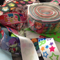 "Ribbon Grab Bag-  Girls Printed 7/8"" & 1"" (10 x 1m)"