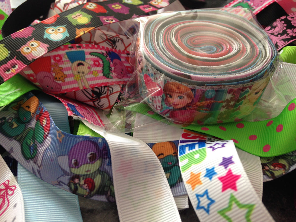 Ribbon Grab Bag-  Girls Printed 7/8