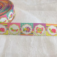 "Bright Bug Patches 1"" Ribbon"
