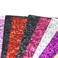 Chunky Glitter Mixed Faux Leather Full Sheet Pack of 11
