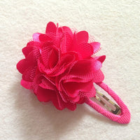 Ribbon Covered Snap Clip