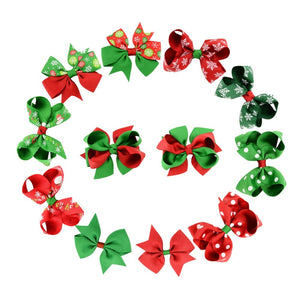 Christmas Bows Pack of 12