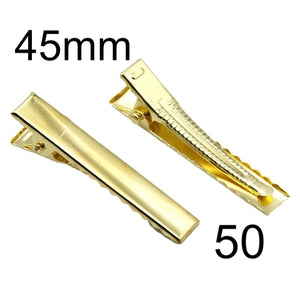 45mm Alligator Clip Gold with Teeth (50)