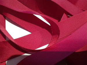 "Wine 1"" (25mm) Grosgrain Ribbon  - 90 Metre Roll"