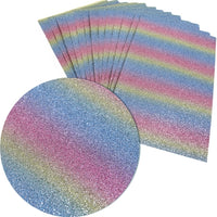 Pastel Ombre Glitter Faux Leather Sheet