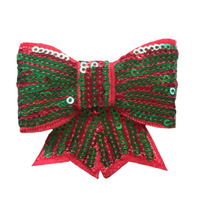 Sequin Bow Christmas