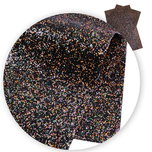Chunky Mixed Glitter Halloween  Faux Leather Sheet