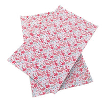 Floral Pink Wildflowers Faux Leather Sheet
