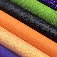 Halloween Solid Mixed Faux Leather Full Sheet Pack of 8