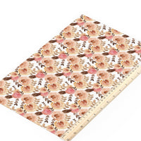 Floral Autumn Flowers Faux Leather Sheet