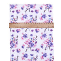 Floral Purple & Pink Faux Leather Sheet