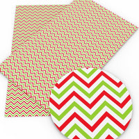 Chevron Christmas Faux Leather Sheet