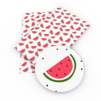 Watermelon Faux Leather Sheet
