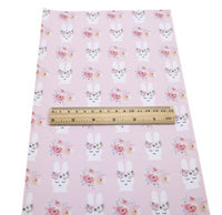 Easter Bunny Floral Crown on Pink Faux Leather Sheet