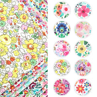 Floral Mixed #2 Faux Leather Full Sheet Pack of 10