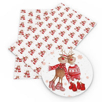 Christmas Reindeer Lovers Faux Leather Sheet