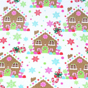Christmas Gingerbread House Faux Leather Sheet