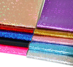 Laser Sequin Faux Leather Full Sheet Pack of 10