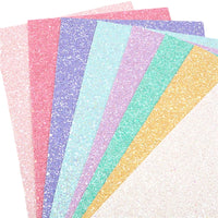 Candy Chunky Glitter Faux Leather Full Sheet Pack of 8