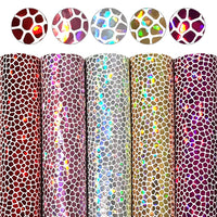 Pebble Stone Hologram Mix A5 Faux Leather Sheet Pack of 5