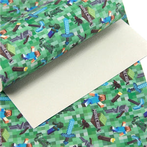 Mine Craft Faux Leather Sheet