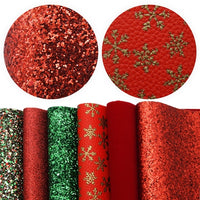 Christmas Designs #2 Faux Leather Full Sheet Pack of 6