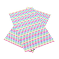 Chunky Pastel Stripe Faux Leather Sheet