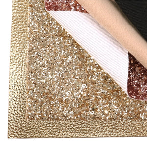 """Gold Combo"" Mixed Faux Leather Full Sheet Pack of 6"