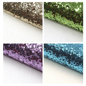Chunky Glitter Pastel A5 Sheet Faux Leather Pack of 8