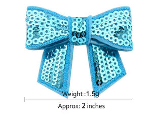 "Sequin Bow with Tails 2"" (Pack of 10)"