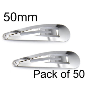 Silver Snap Clips 50mm (50)