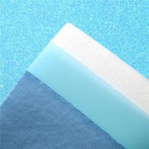 Light Blue Mixed Faux Leather Full Sheet Pack of 8
